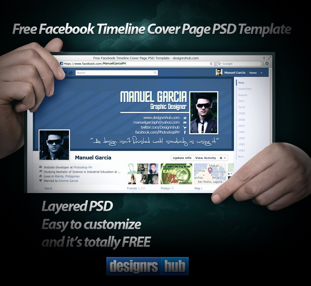 Facebook Cover Photoshop Template Awesome Free Timeline Cover Page Psd Template by