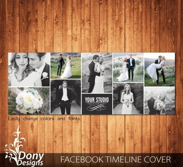 Facebook Cover Photoshop Template Elegant Wedding Timeline Cover Template Collage