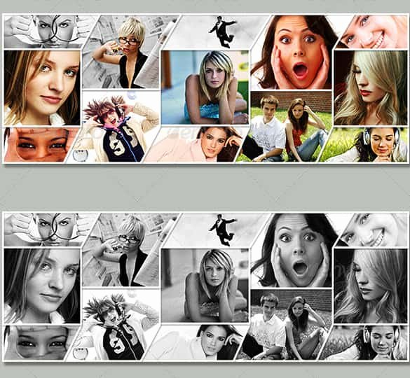Facebook Cover Photoshop Template Lovely 39 Collage Templates Free Psd Vector Eps Ai