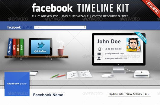 Facebook Cover Photoshop Template New 60 High Quality Timeline Cover Psd Templates
