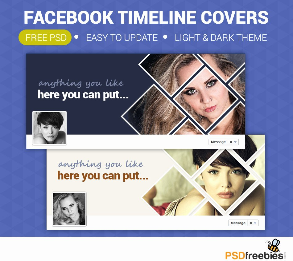 Facebook Cover Photoshop Template New Timeline Covers Free Psd