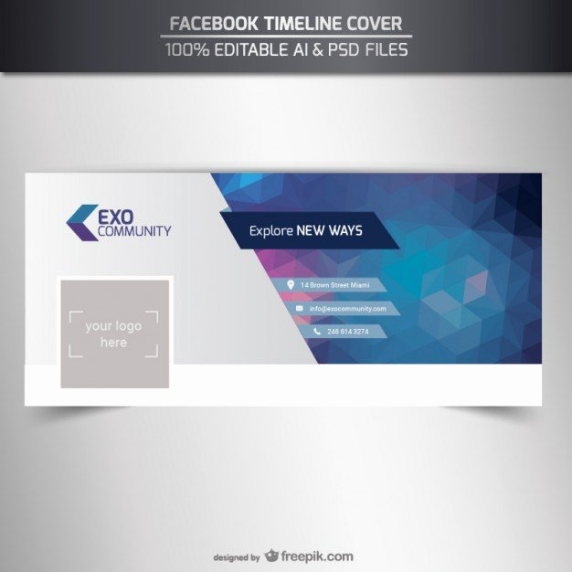Facebook Cover Photoshop Template Unique Cover Vectors S and Psd Files