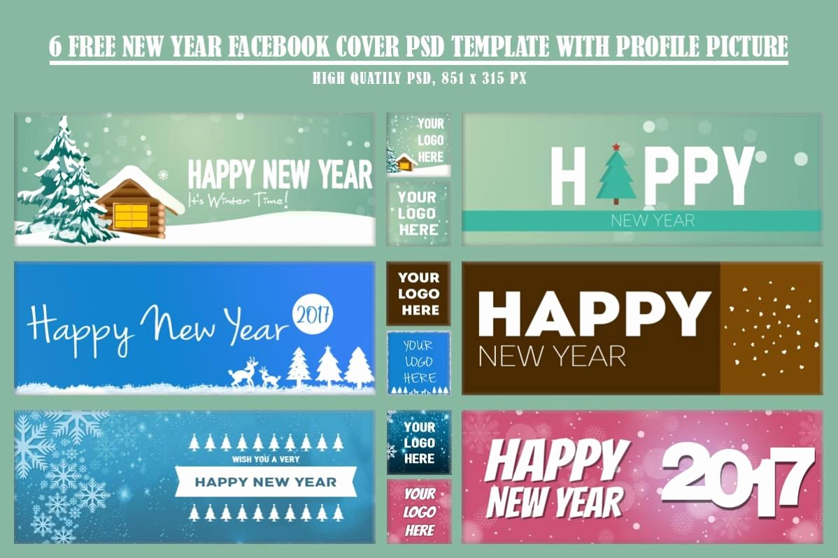 Facebook Cover Template Psd Awesome 6 Free New Year Timeline Cover Template