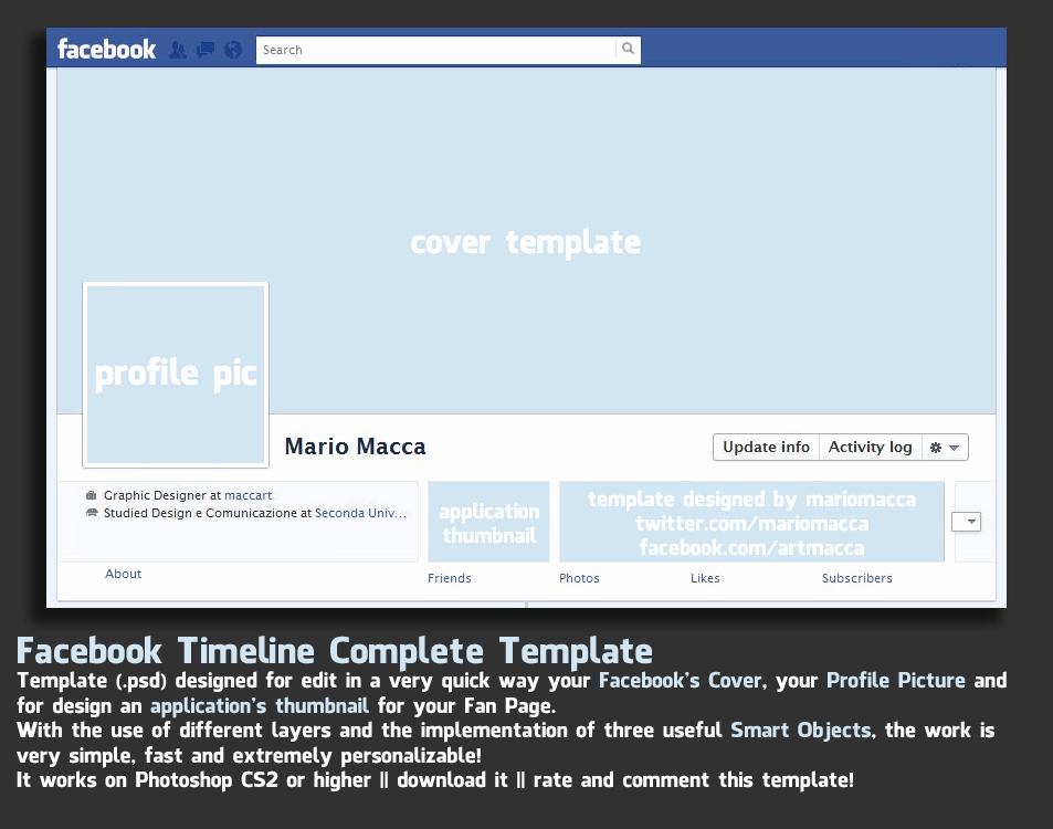 Facebook Cover Template Psd Awesome Timeline Cover Template Version 1 2 – Over