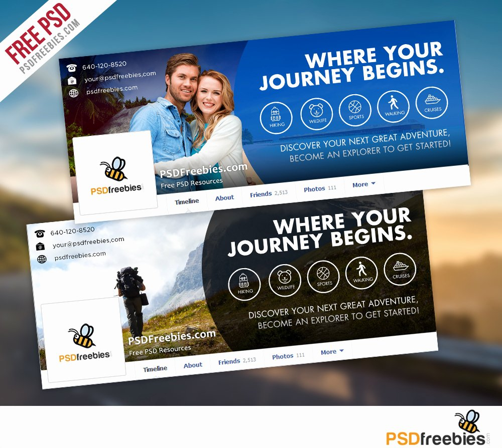 Facebook Cover Template Psd Best Of Travel Timeline Covers Free Psd Templates