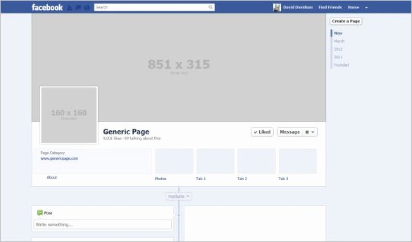 Facebook Cover Template Psd Elegant 14 Banner Size Templates