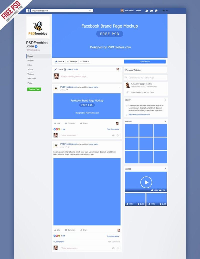 Facebook Cover Template Psd Luxury Mockup 2018 Psd Template
