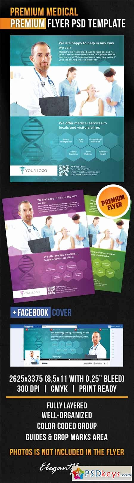 Facebook Cover Template Psd Luxury Premium Medical – Flyer Psd Template Cover
