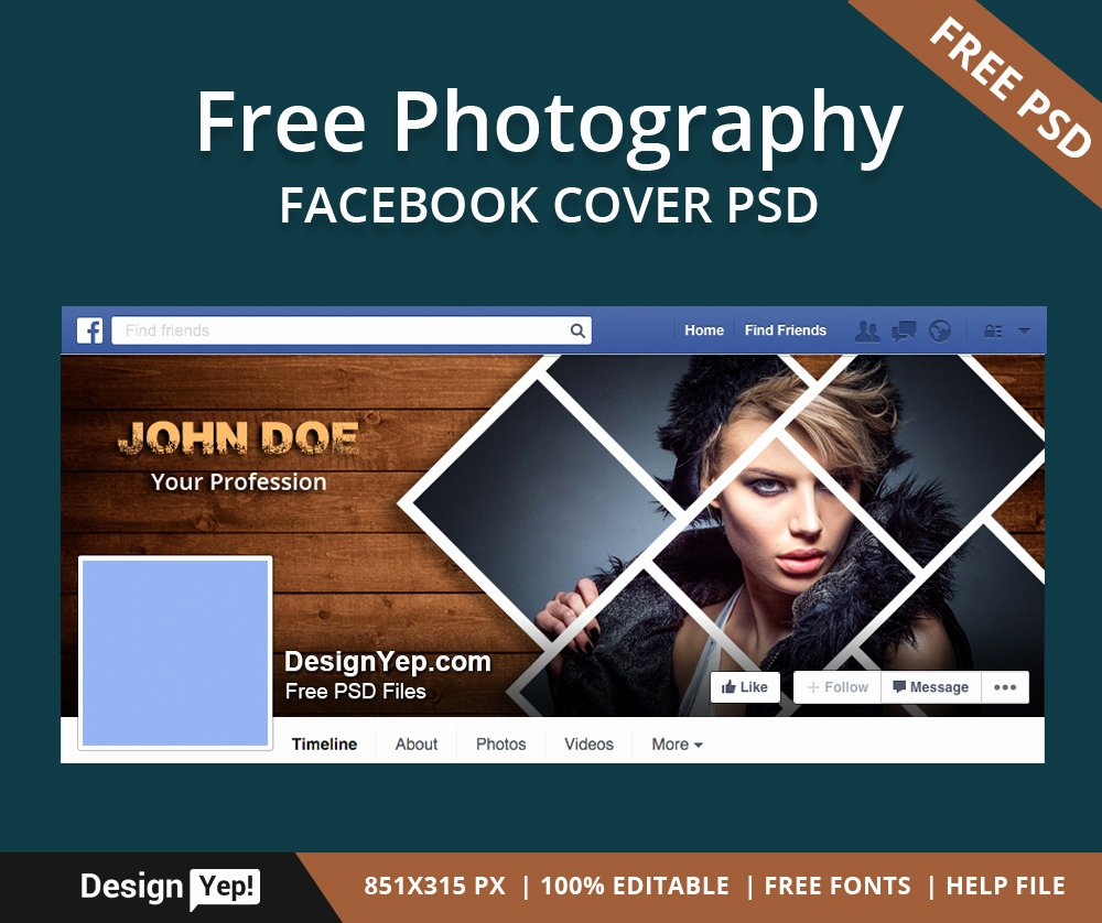 Facebook Cover Template Psd New Free Graphy Timeline Cover Psd Template