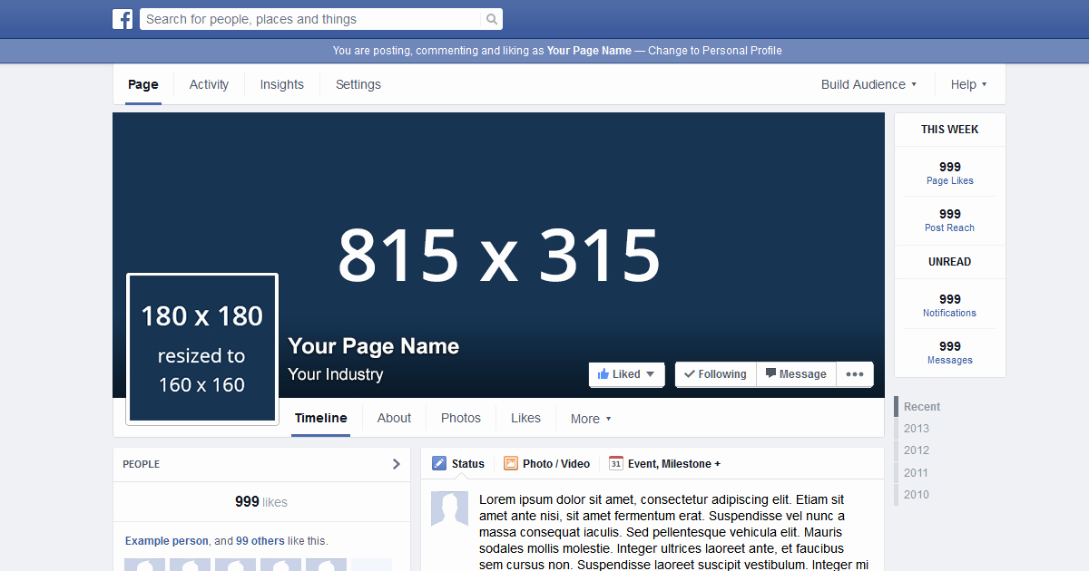 Facebook Page Template Pdf New Page Template