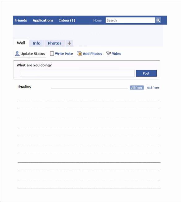 Facebook Page Template Pdf Unique 49 Templates Doc Pdf Psd Ppt