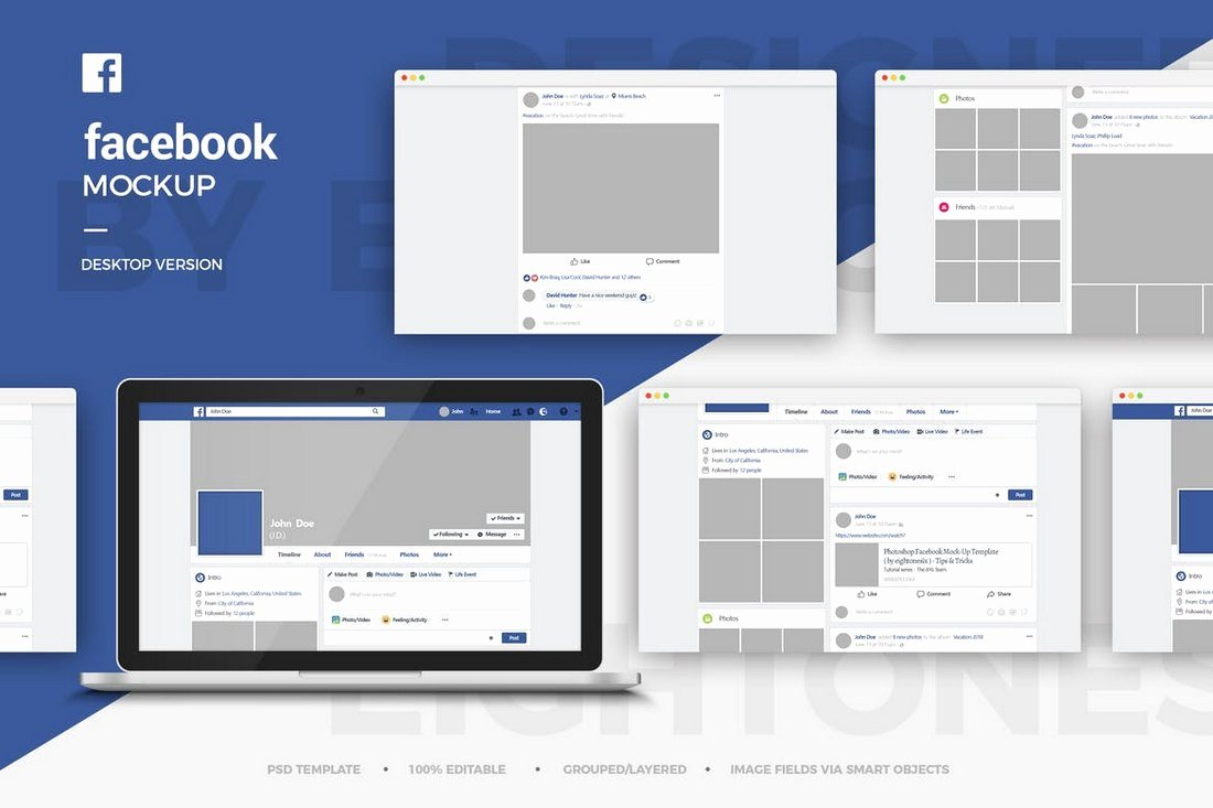 Facebook Post Template Psd Awesome 20 Best Cover & Post Mockups