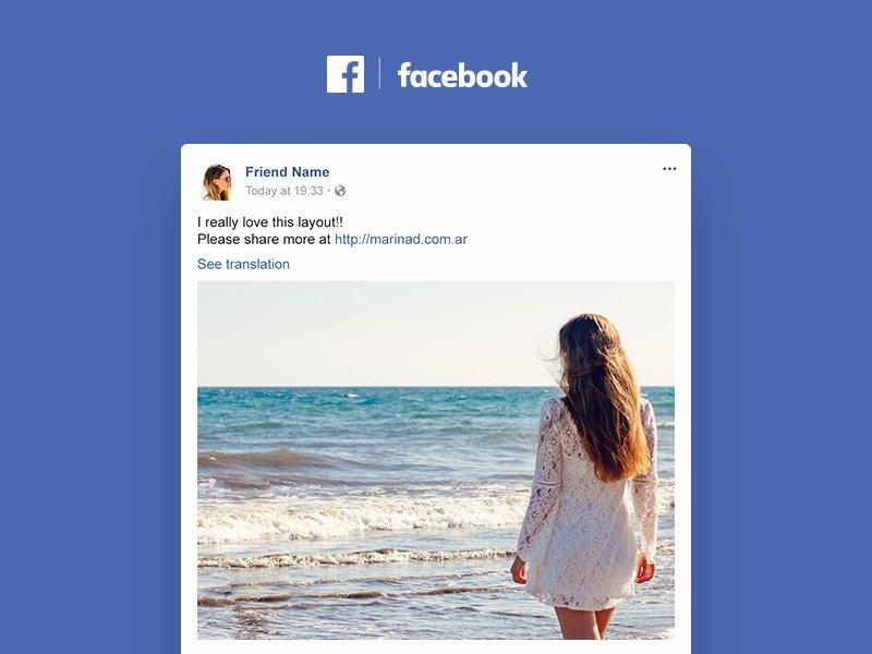 Facebook Post Template Psd Fresh Post Mockup Freebie Download Shop Resource