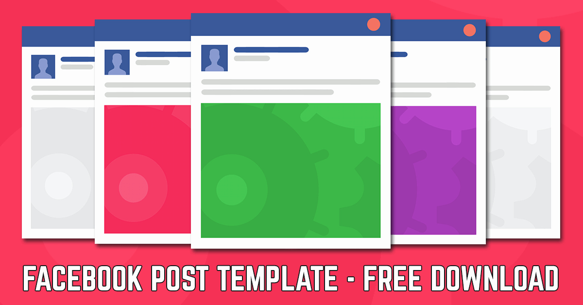 Facebook Post Template Psd New Post Template 2018