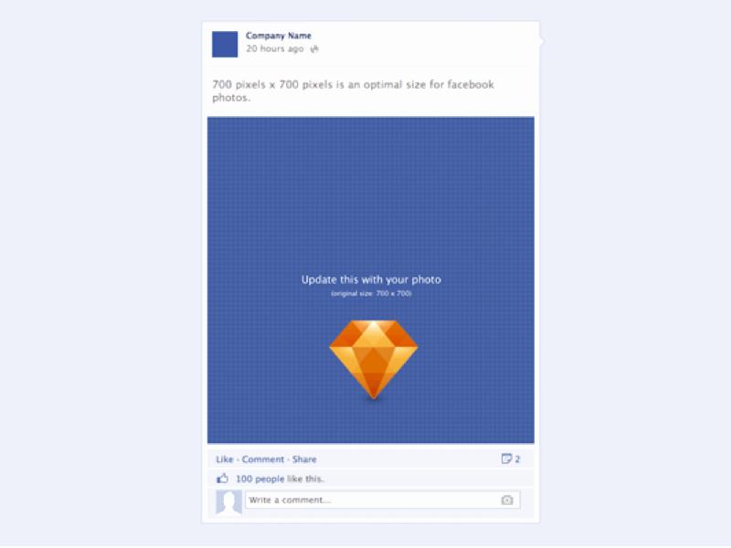 Facebook Post Template Psd Unique Post Template