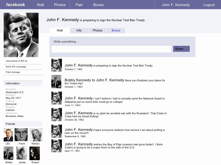 Facebook Profile Page Template Beautiful Sample Page Jfk