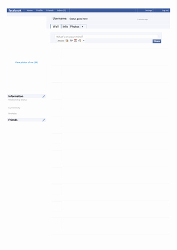 Facebook Profile Page Template Best Of Template Page by Tafkam Teaching Resources Tes