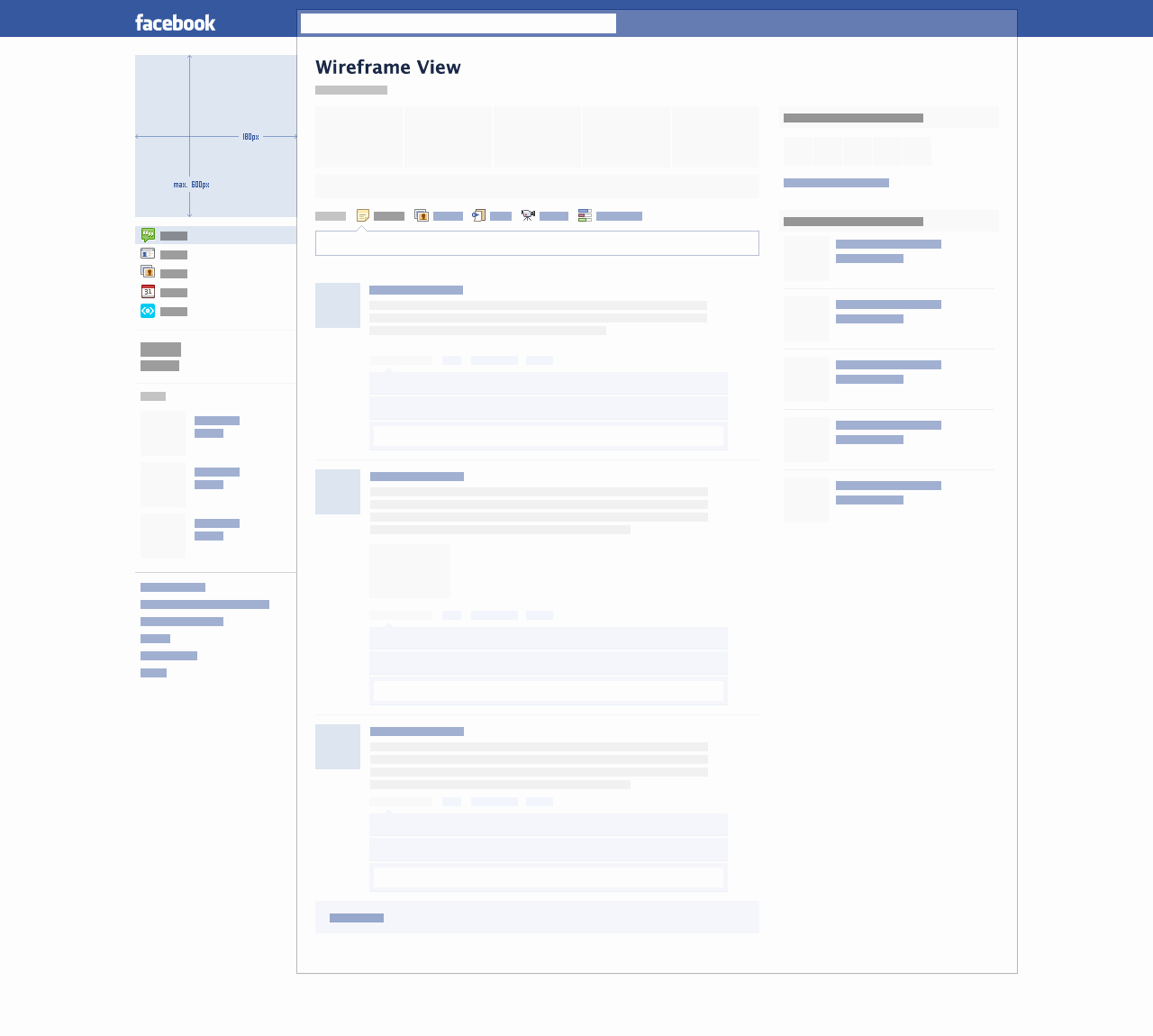 Facebook Profile Page Template Elegant Blank Template
