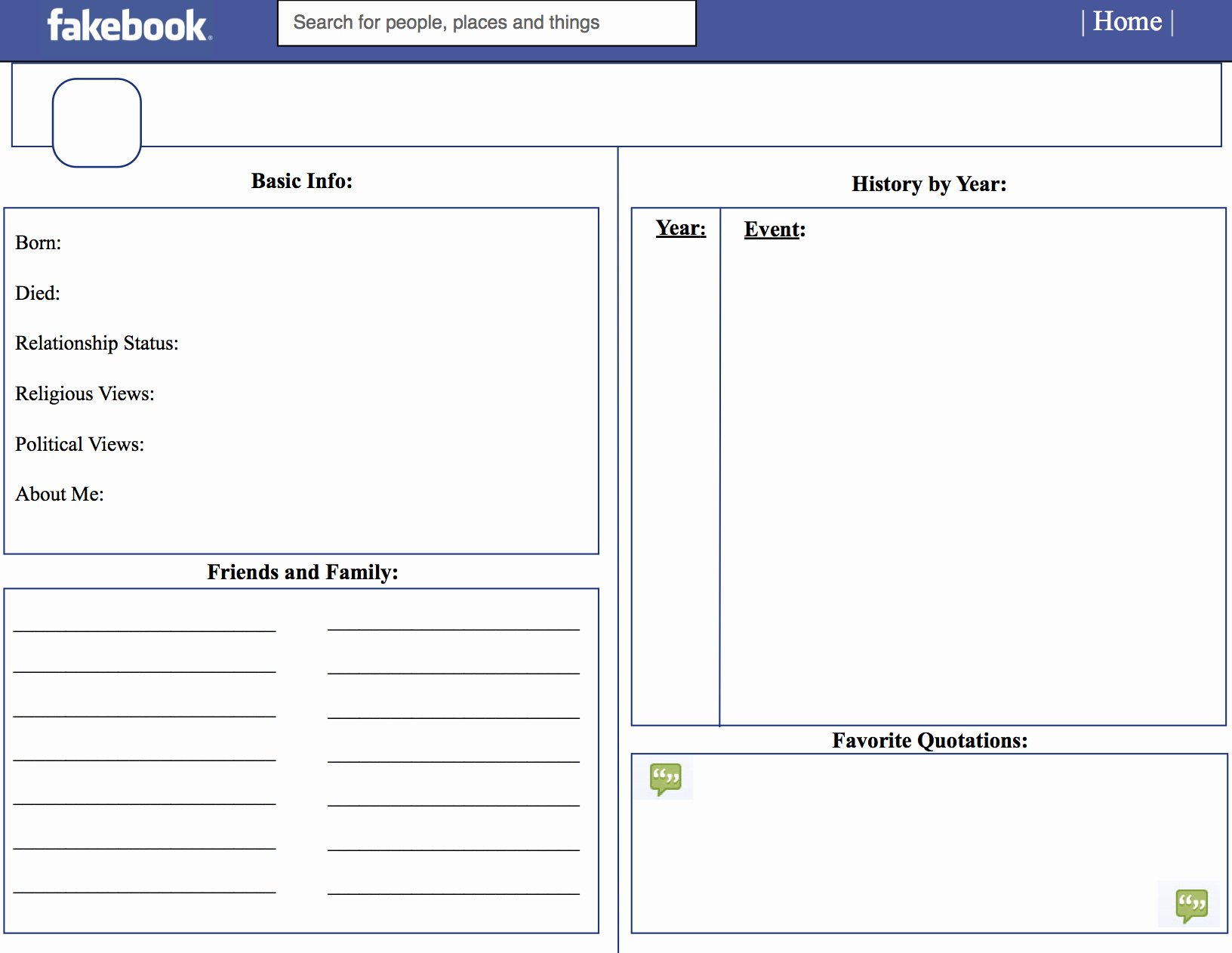Facebook Template for Students Unique Template for Students