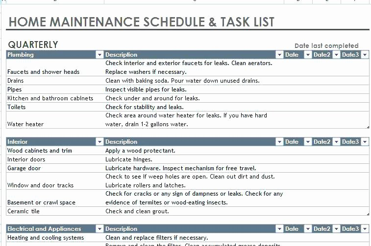 Facility Maintenance Plan Template Lovely Facility Maintenance Checklist Template Fice Cleaning