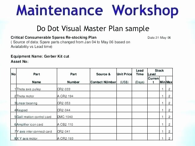 Facility Maintenance Plan Template Luxury Facility Maintenance Plan Template Maintenance Schedule