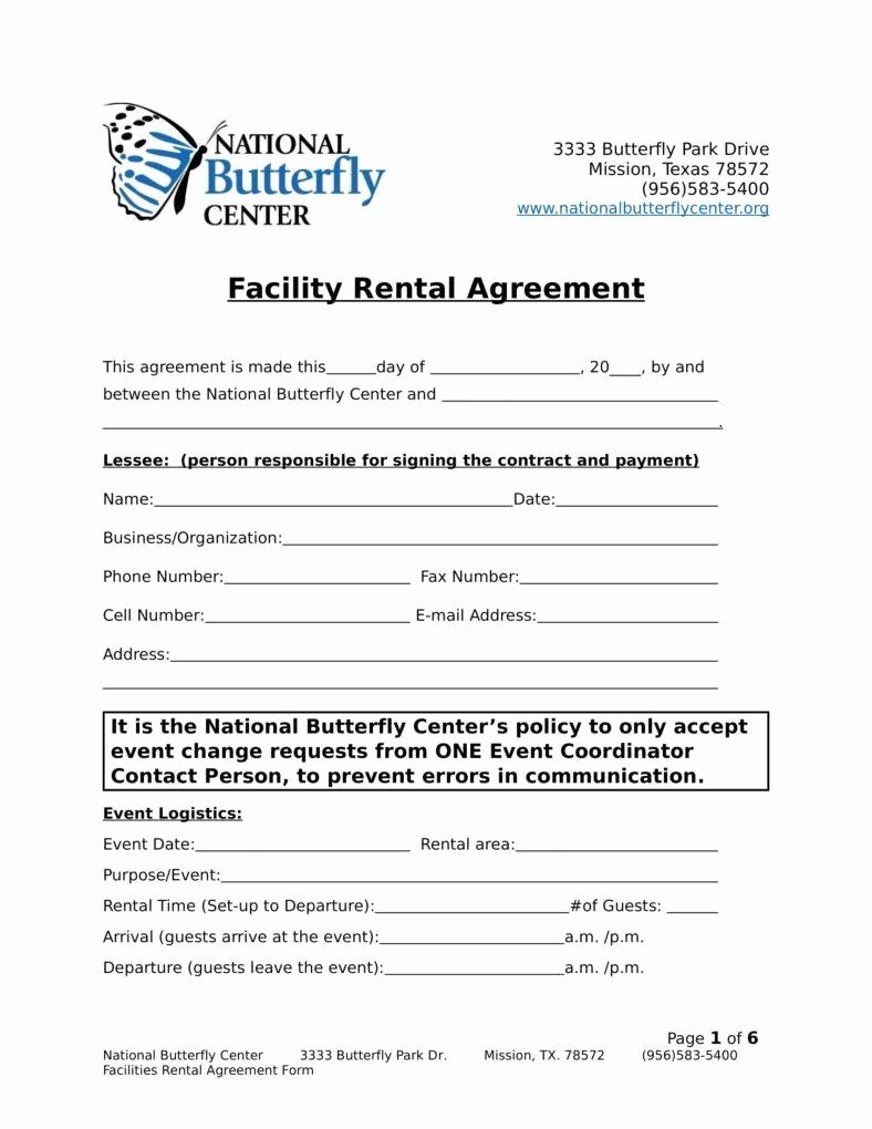 Facility Rental Agreement Template Awesome 9 Facility Rental Agreement Templates Pdf