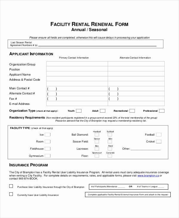 Facility Rental Agreement Template New Sample Lease Renewal forms 10 Free Documents In Pdf Doc