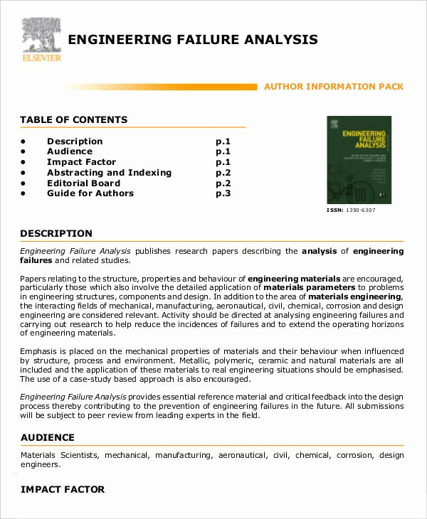 Failure Analysis Report Template Fresh 9 Editable Failure Analysis Templates Pdf Word