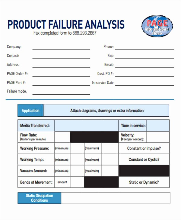 Failure Analysis Report Template Lovely Failure Analysis Report Template – Emilys Welt