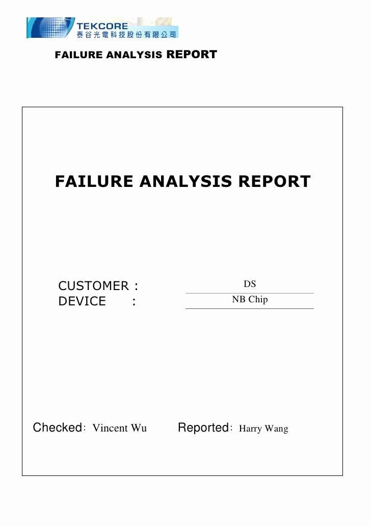 Failure Analysis Report Template Lovely Microsoft Word S Ds Scratch Pad Discolor Failure
