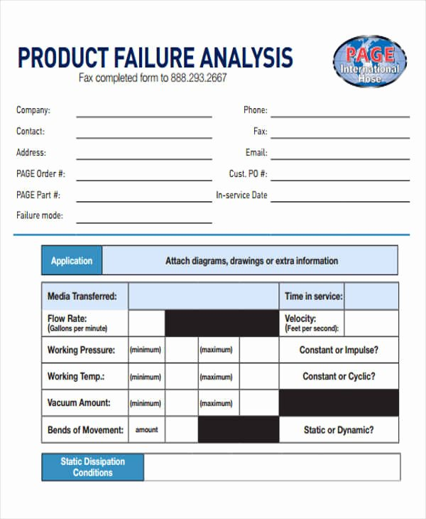 Failure Analysis Report Template Unique 8 Sample Product Analysis Reports