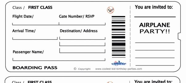 Fake Airline Ticket Template Awesome Free Printable Airline Ticket