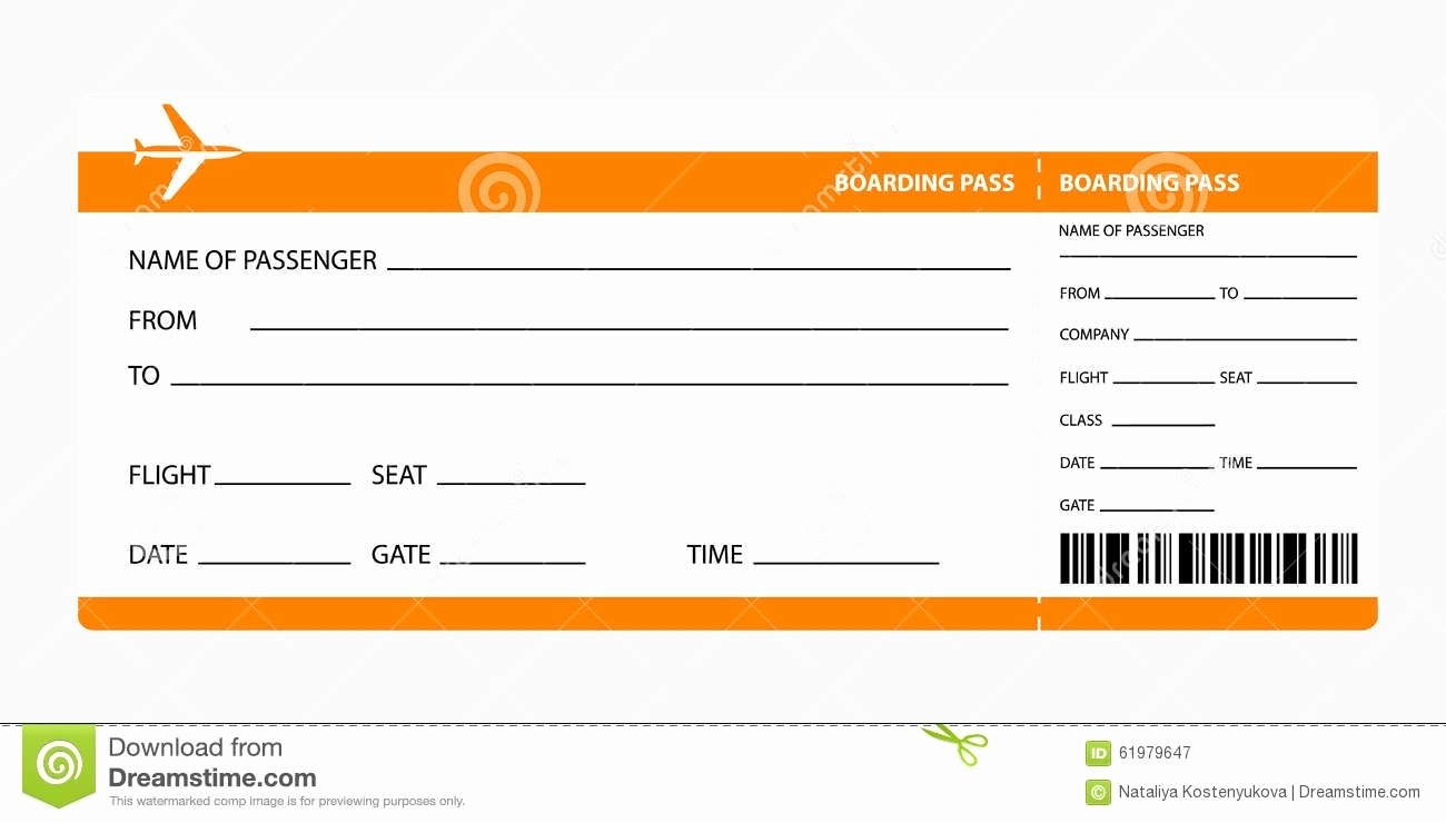 Fake Airline Ticket Template Awesome Plane Ticket Template Beepmunk