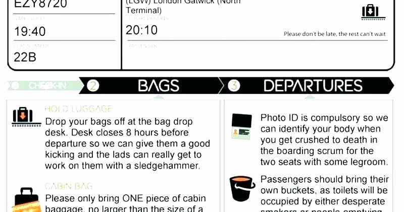 Fake Airline Ticket Template Awesome Ticket Generator Template