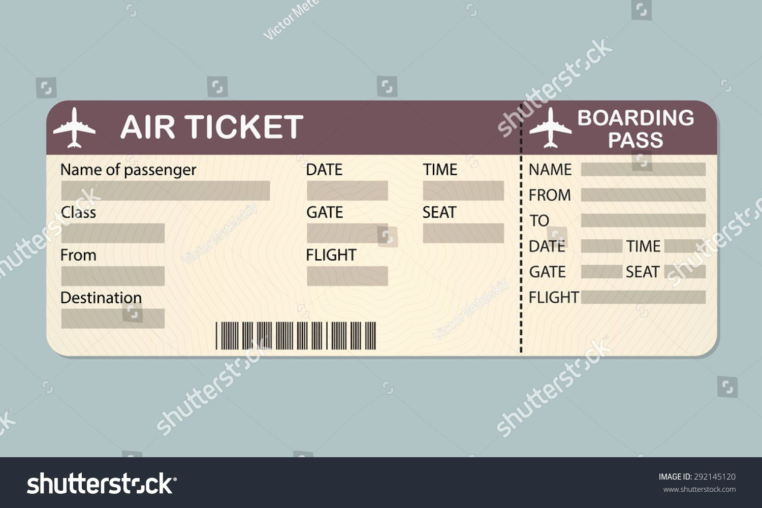 Fake Airline Ticket Template Beautiful Fake Airline Ticket Template