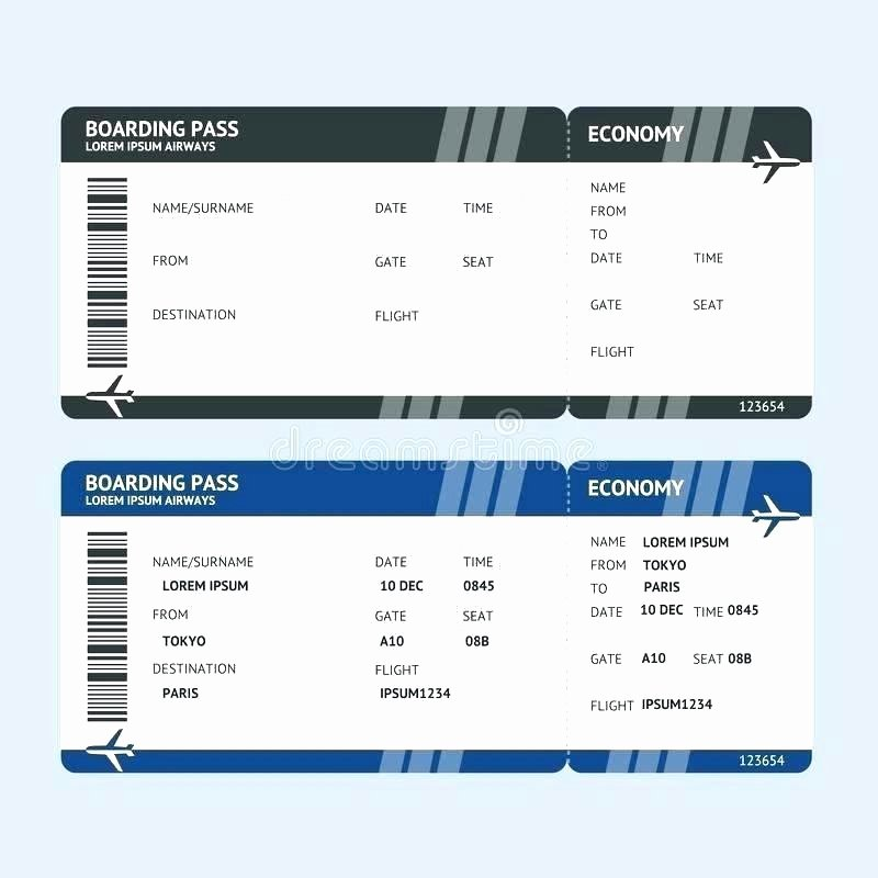 Fake Airline Ticket Template Best Of Create Fake Airline Ticket Template Plane Blank