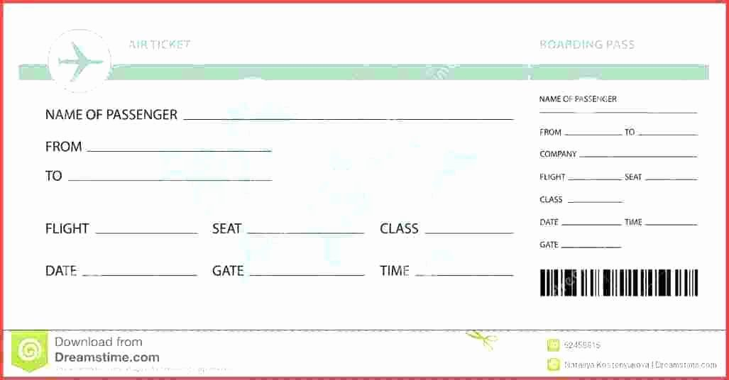 Fake Airline Ticket Template Best Of Play Ticket Template Role Play Free Early Years Editable