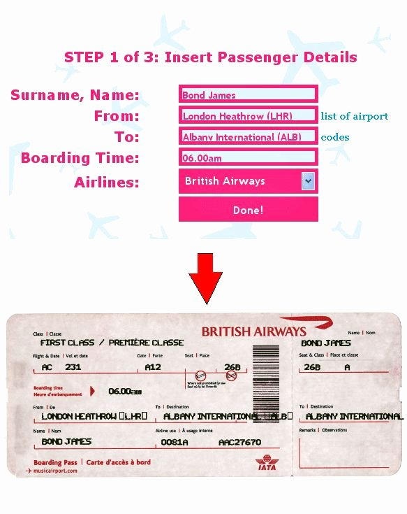 Fake Airline Ticket Template Inspirational Ticket O Matic is the Best Fake Airline Ticket Generator