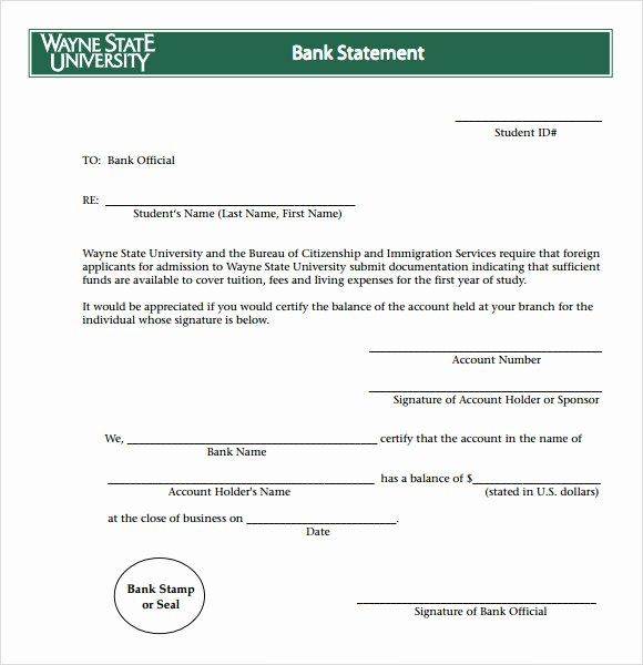 Fake Bank Statement Template Elegant Bank Statement 8 Free Samples Examples format
