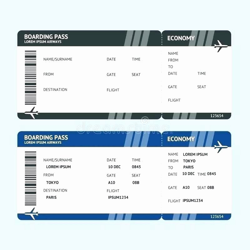 Fake Boarding Pass Template Awesome Fake Ticket Template Fake Airline Ticket