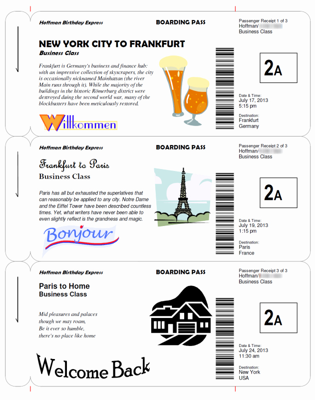 Fake Boarding Pass Template Best Of Boarding Pass Templates for Invitations & Gifts