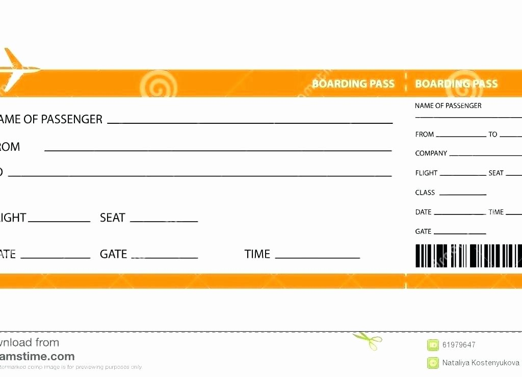 Fake Boarding Pass Template Elegant Create Fake Airline Ticket Template Plane Blank