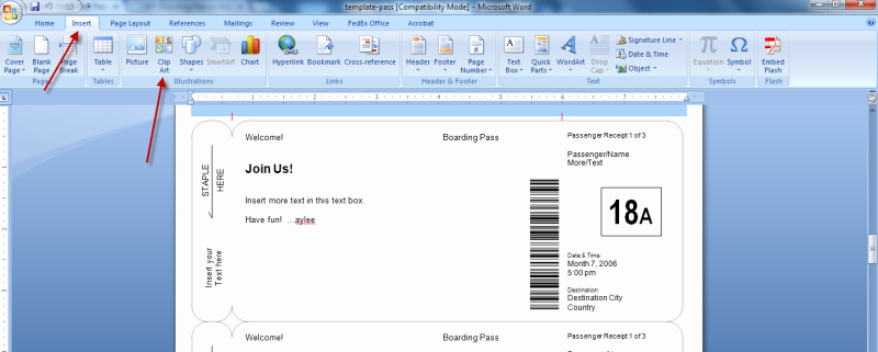 Fake Boarding Pass Template Inspirational Making Fake Boarding Passes as Gifts Le Chic Geek