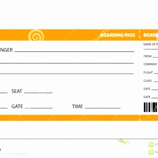 Fake Boarding Pass Template Lovely Plane Ticket Template Pdf Blank Airline Boarding Pass