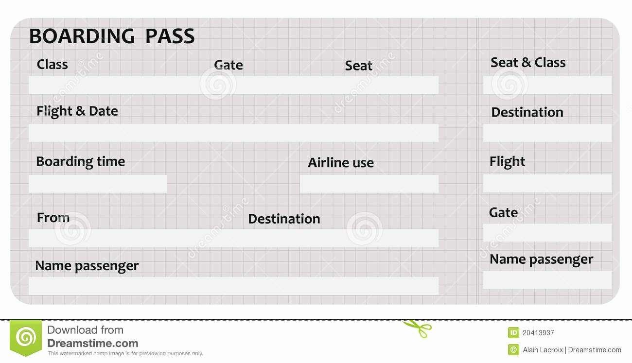 Fake Boarding Pass Template New Luxury Fake Airline Ticket Template
