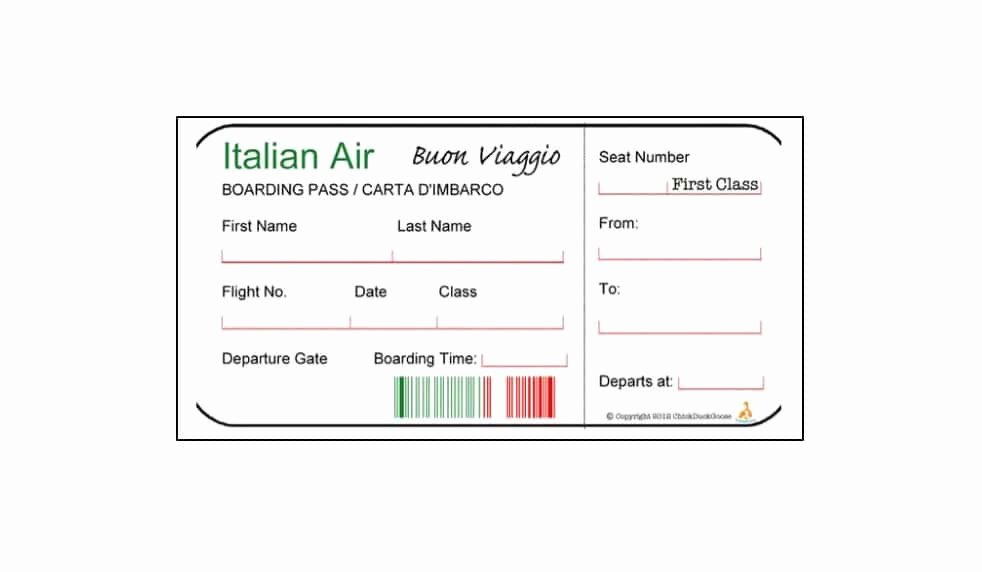 Fake Boarding Pass Template Unique 16 Real & Fake Boarding Pass Templates Free