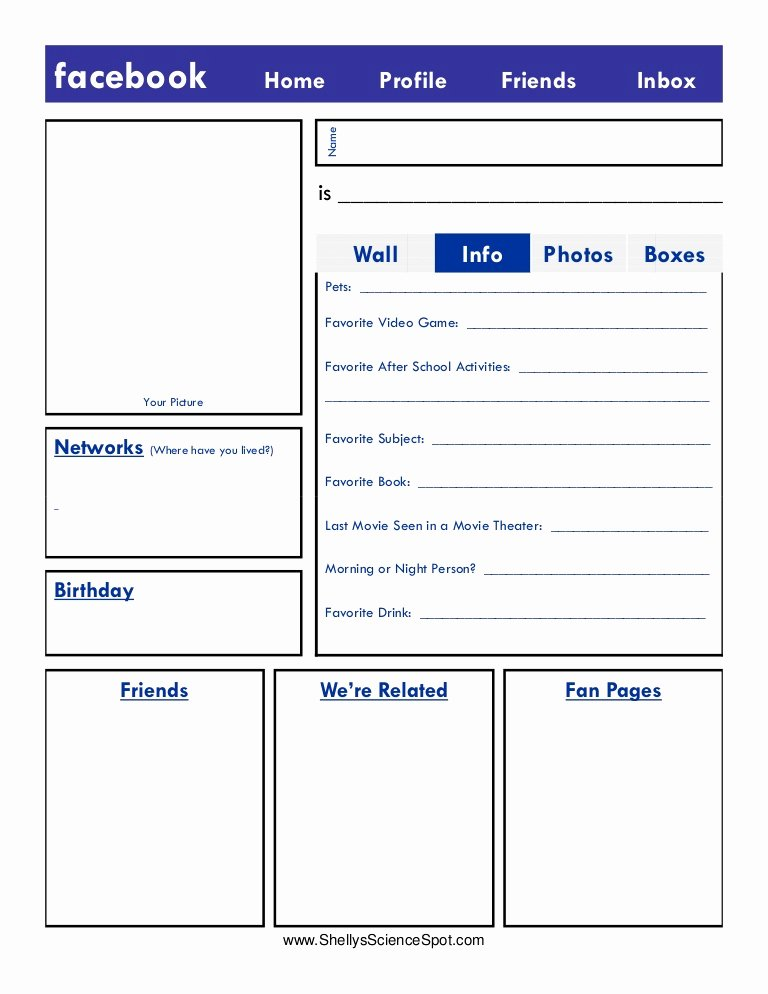 Fake Facebook Page Template Beautiful Blank Page