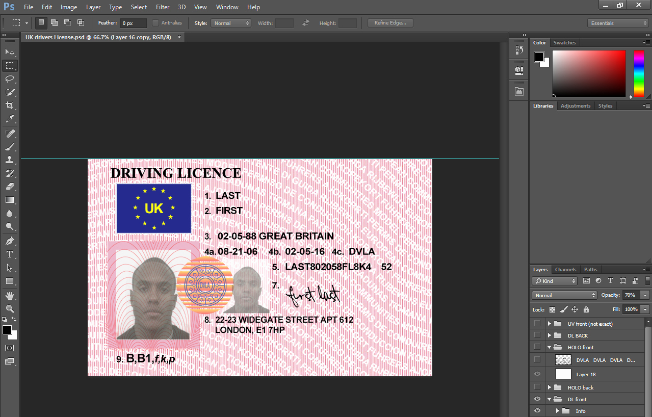 Fake Id Template Download Awesome Fake Id Template Free