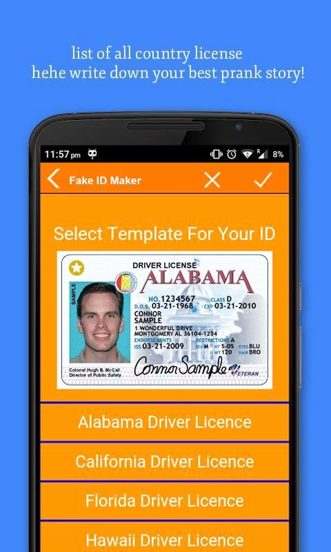 Fake Id Template Download Fresh Id Card Maker Apk Download Free social App for android