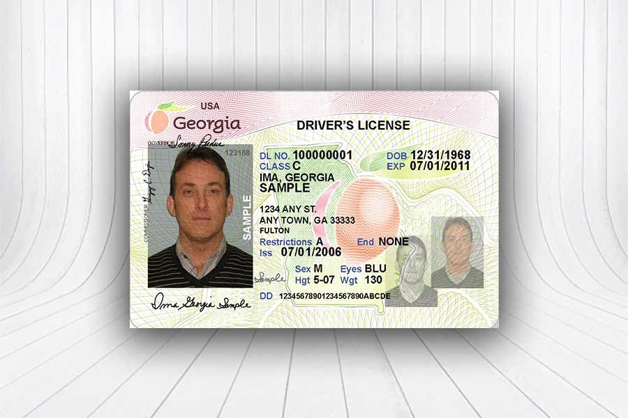Fake Id Template Download Lovely Georgia U S Id Template